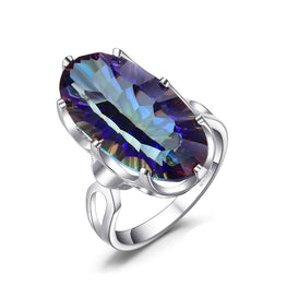 Brand New & Striking Rainbow Fire Topaz Ring
