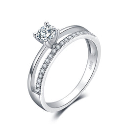 Exquisite Wedding & Engagement Silver Ring