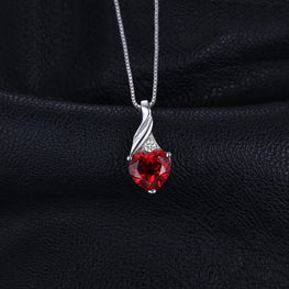 Classic Love Heart Ruby Pendant