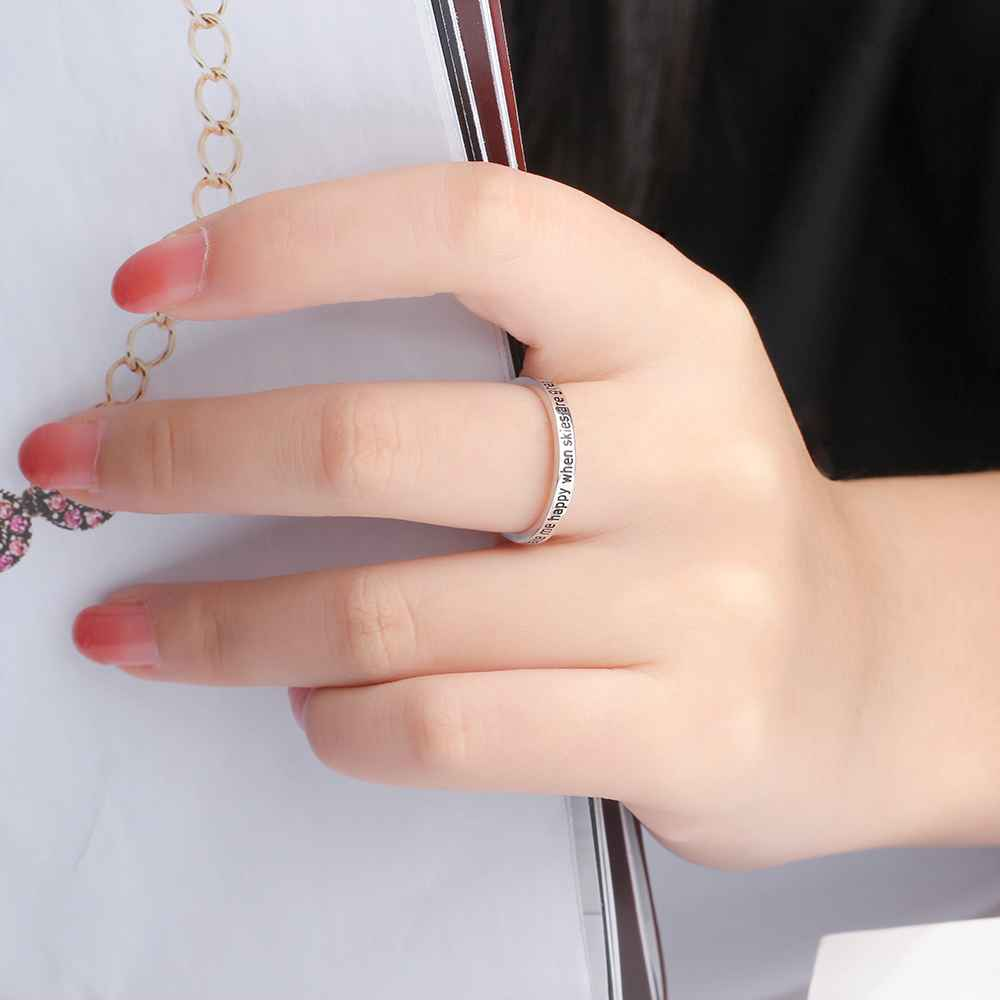 Fashionable Sterling Silver Ring