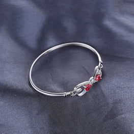 Fashionable Ruby Stones Bracelet