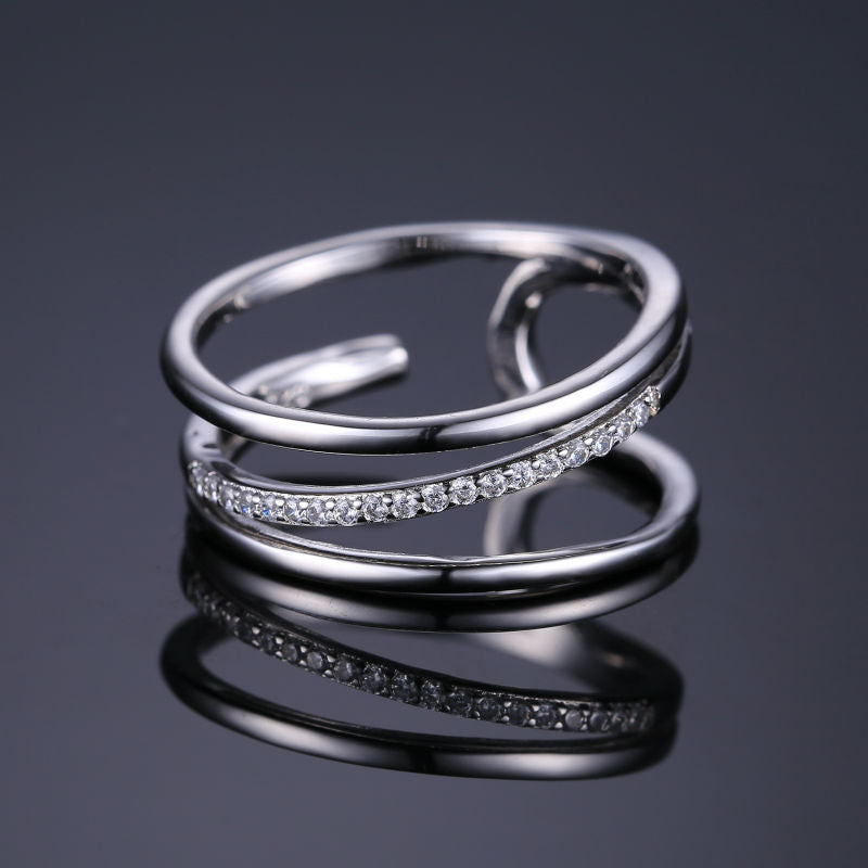 Exquisite Silver Ring With Distinctive Design