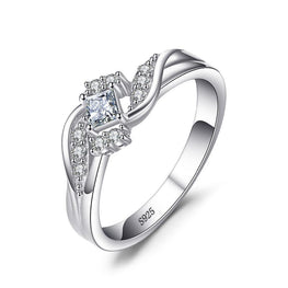 Classic Princess Cut Wedding Ring