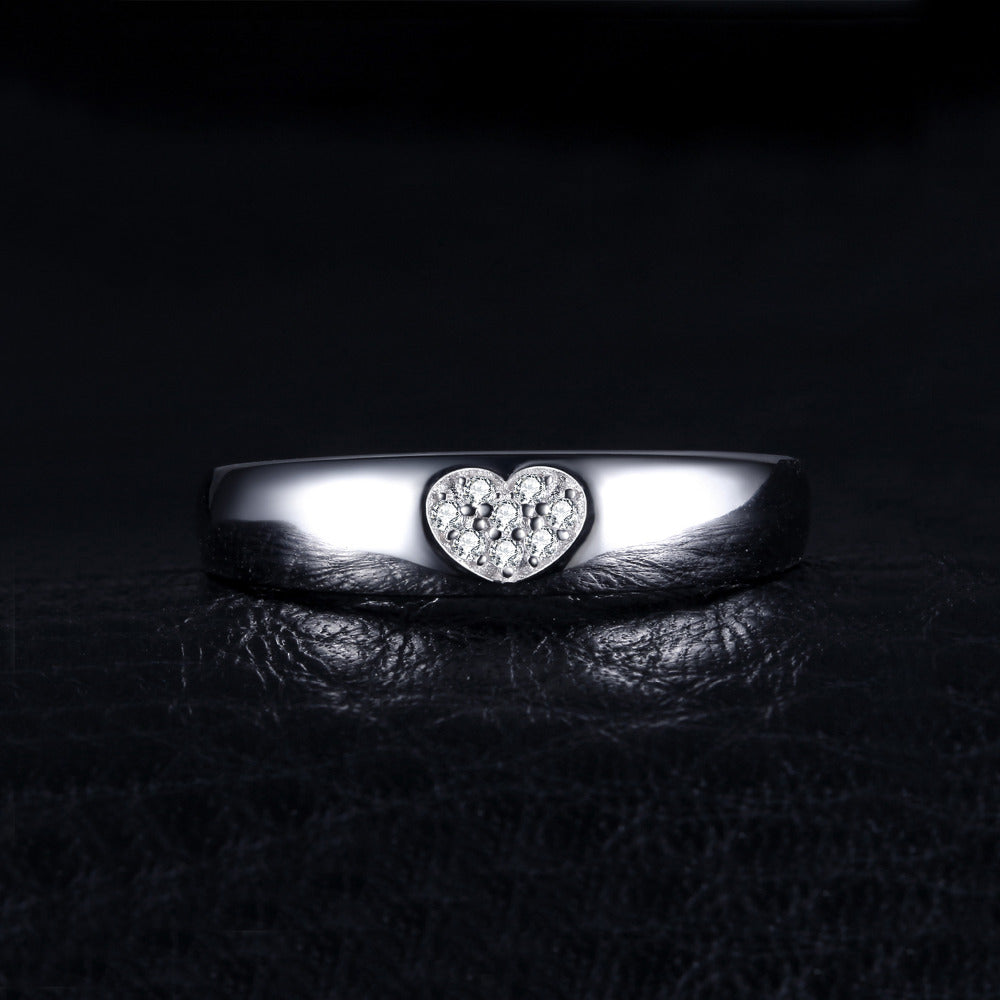 Brand New Heart Shaped Silver Ring