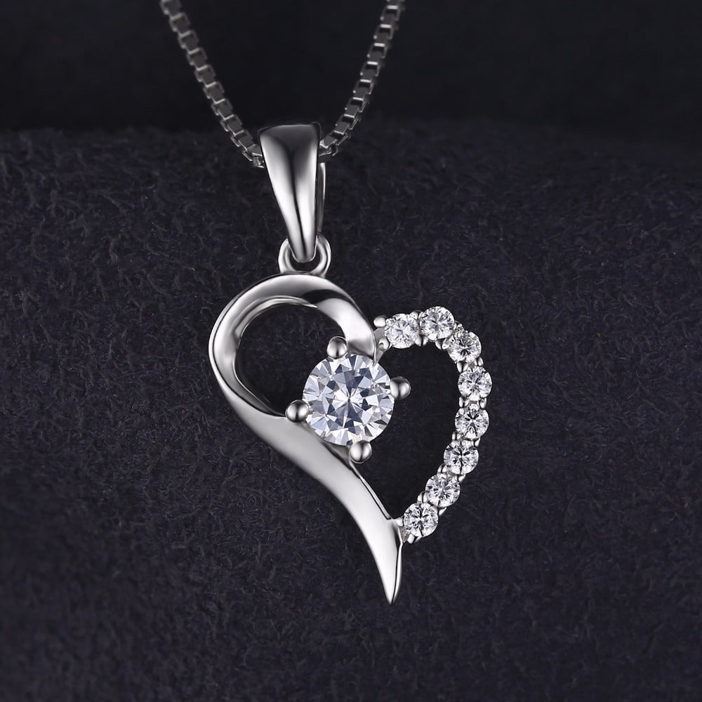 Classic Love Heart Silver Necklace