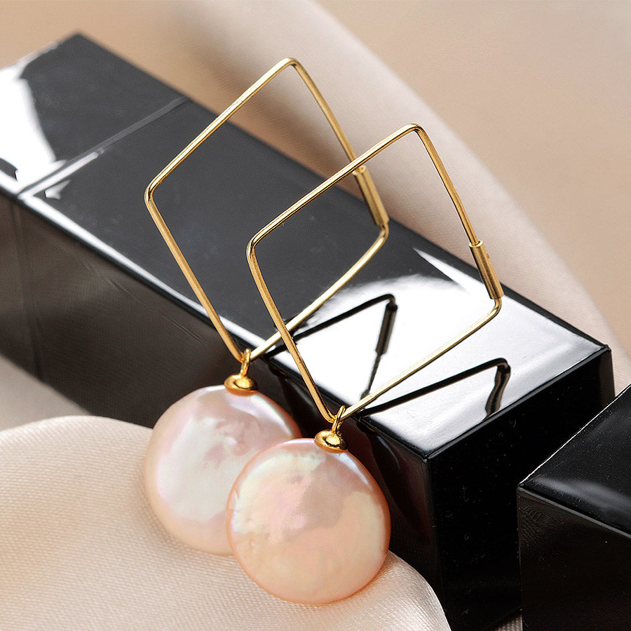 Elegant Natural Pearl Earrings