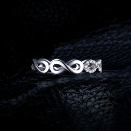 Forever Love Rings Pure 925 Sterling Silver