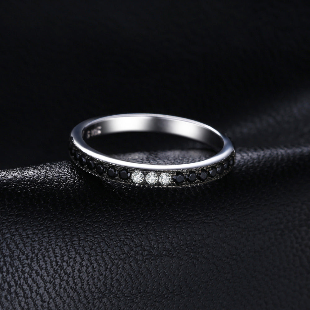 Brand New Black Spinel 925 Sterling Silver Rings