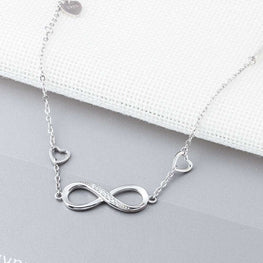 Stylish Infinity Shaped Silver Bracelet