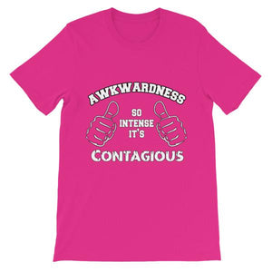 Awkwardness So Intense It's Contagious T-shirt-Berry-S-Awkward T-Shirts