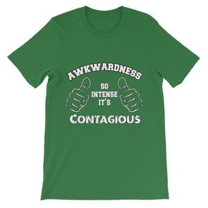 Awkwardness So Intense It's Contagious T-shirt-Leaf-S-Awkward T-Shirts