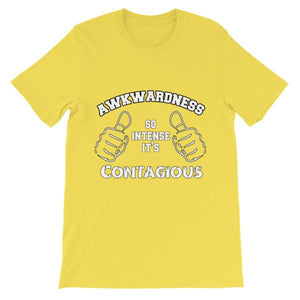 Awkwardness So Intense It's Contagious T-shirt-Yellow-S-Awkward T-Shirts