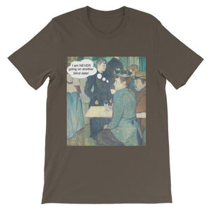 Blind Dates Suck Art T-Shirt-Army-S-Awkward T-Shirts