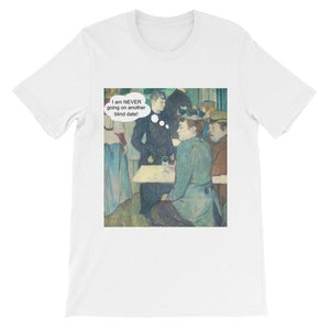 Blind Dates Suck Art T-Shirt-White-S-Awkward T-Shirts