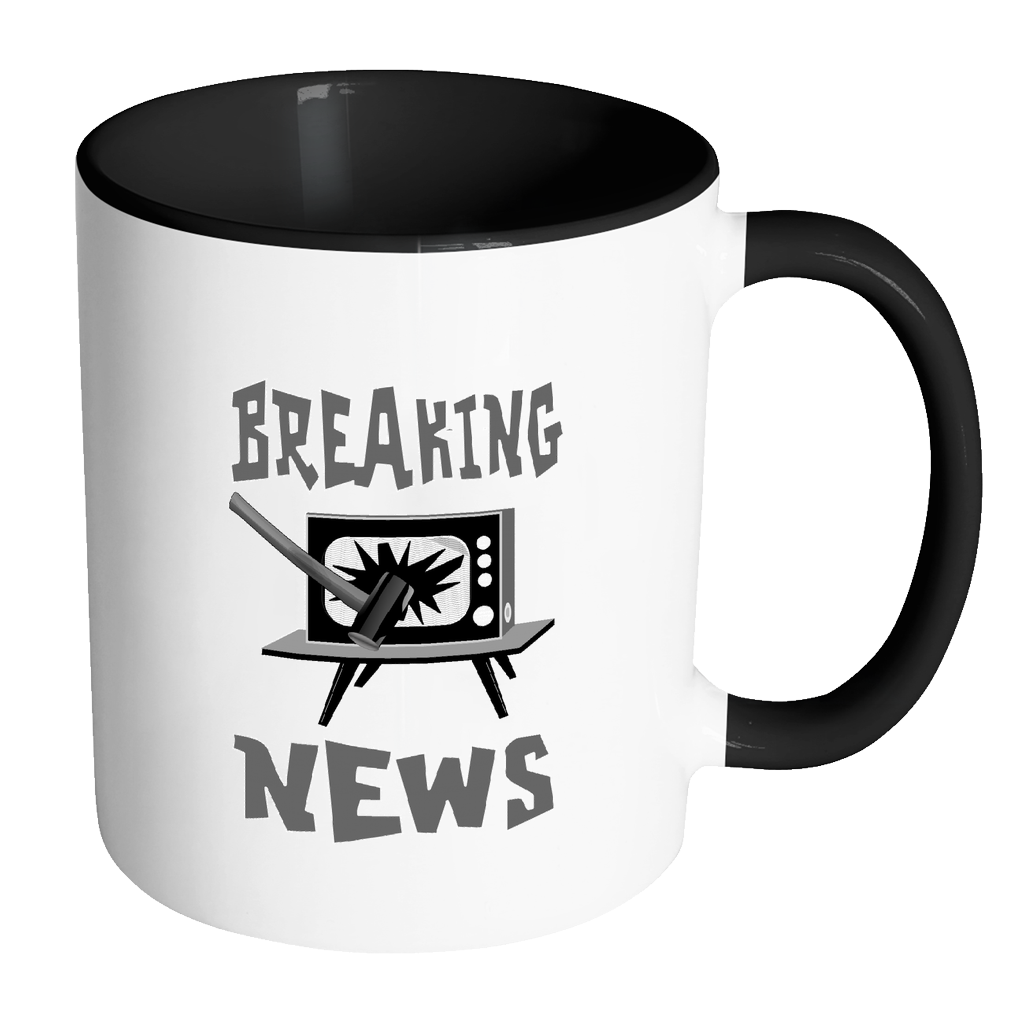 Breaking News Coffee Mug - Awkward T-Shirts