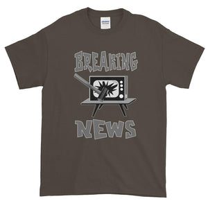 Breaking News TV Sledgehammer T-Shirt-Olive-S-Awkward T-Shirts