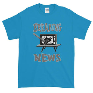 Breaking News TV Sledgehammer T-Shirt-Sapphire-S-Awkward T-Shirts