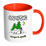Camping Escape to Reality Coffee Mug - Awkward T-Shirts