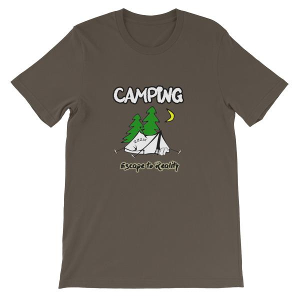 Camping Escape to Reality T-shirt-Army-S-Awkward T-Shirts