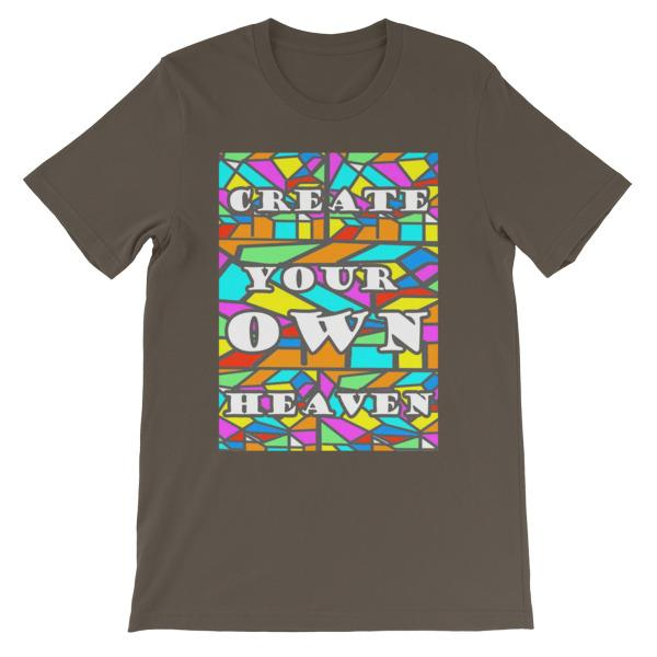Create Your Own Heaven T-Shirt-Army-S-Awkward T-Shirts