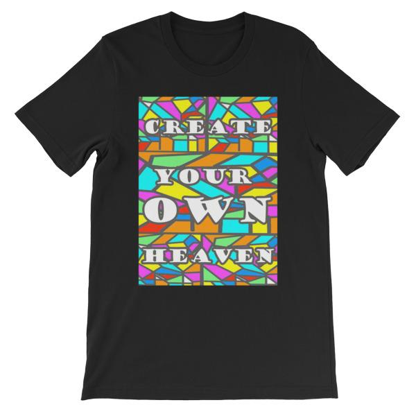 Create Your Own Heaven T-Shirt-Black-S-Awkward T-Shirts
