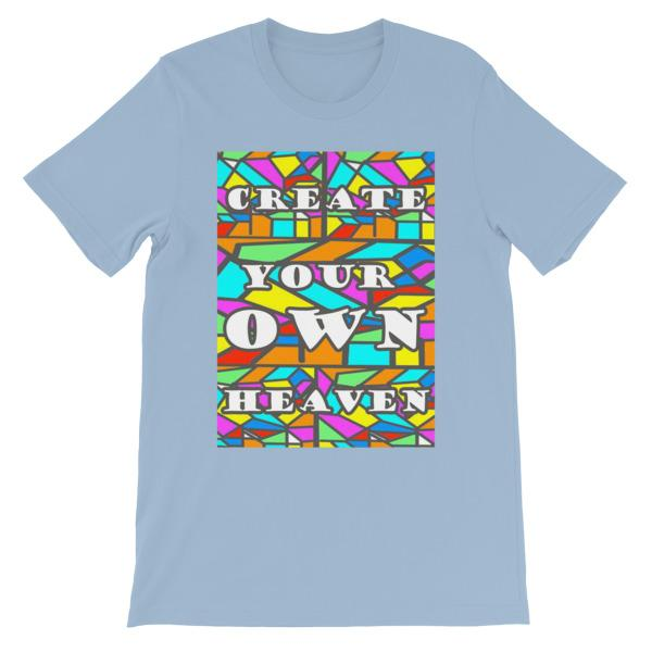 Create Your Own Heaven T-Shirt-Light Blue-S-Awkward T-Shirts