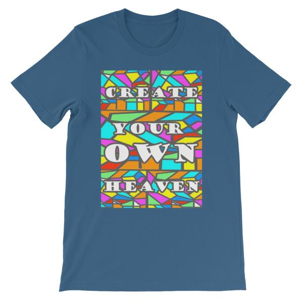 Create Your Own Heaven T-Shirt-Steel Blue-S-Awkward T-Shirts