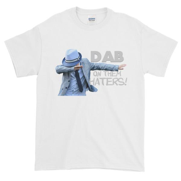 Dab on Them Haters T-shirt-White-S-Awkward T-Shirts