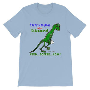 Durante Need Coffee Now T-shirt-Light Blue-S-Awkward T-Shirts