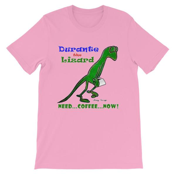Durante Need Coffee Now T-shirt-Pink-S-Awkward T-Shirts