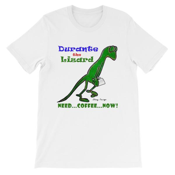 Durante Need Coffee Now T-shirt-White-S-Awkward T-Shirts