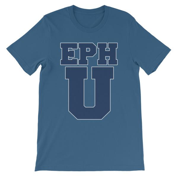 Eph U T-shirt-Steel Blue-S-Awkward T-Shirts