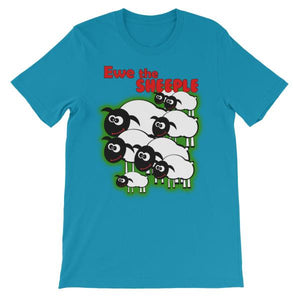 Ewe The Sheeple T-shirt-Aqua-S-Awkward T-Shirts