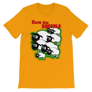 Ewe The Sheeple T-shirt-Gold-S-Awkward T-Shirts