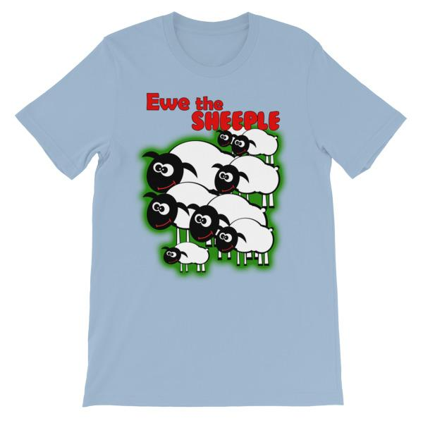 Ewe The Sheeple T-shirt-Light Blue-S-Awkward T-Shirts