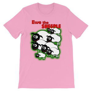 Ewe The Sheeple T-shirt-Pink-S-Awkward T-Shirts