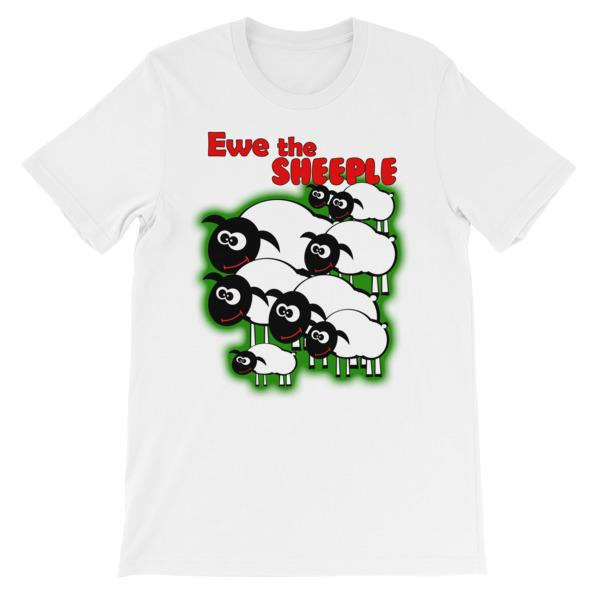 Ewe The Sheeple T-shirt-White-S-Awkward T-Shirts