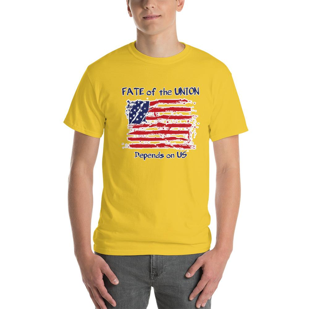 Fate of the Union Depends on US Patriot Patriotic Flag T-Shirt-Daisy-S-Awkward T-Shirts