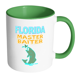 Florida Master Baiter Funny Fishing Coffee Mug - Awkward T-Shirts