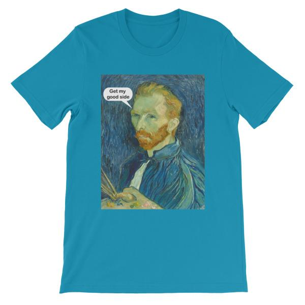 Get My Good Side Vincent Van Gogh T-shirt-Aqua-S-Awkward T-Shirts