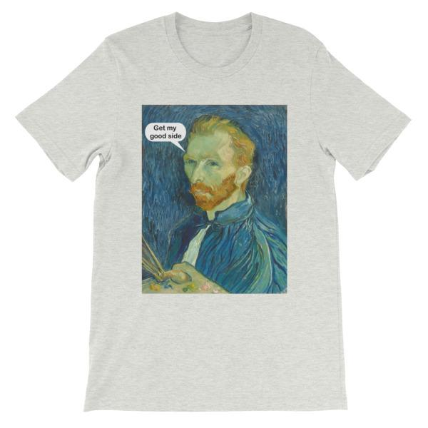 Get My Good Side Vincent Van Gogh T-shirt-Ash-S-Awkward T-Shirts