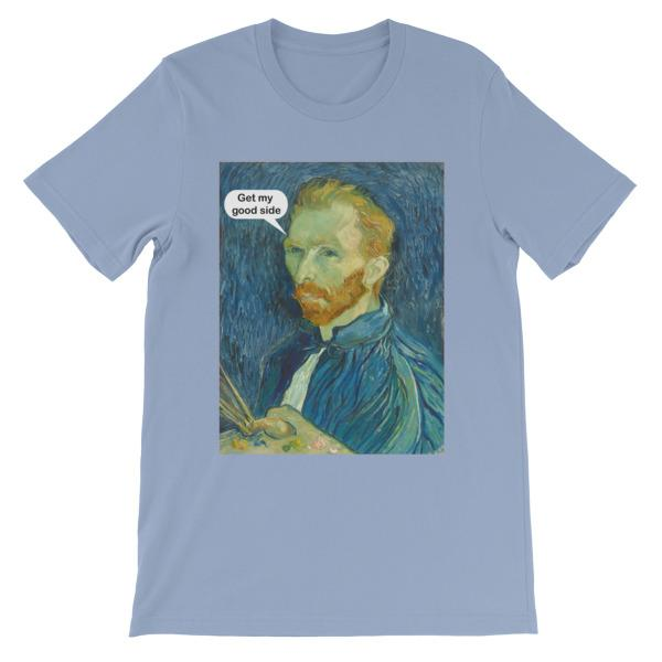 Get My Good Side Vincent Van Gogh T-shirt-Baby Blue-S-Awkward T-Shirts