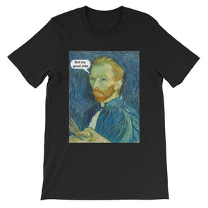Get My Good Side Vincent Van Gogh T-shirt-Black-S-Awkward T-Shirts