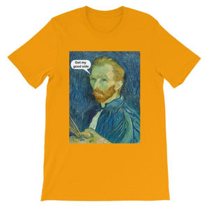 Get My Good Side Vincent Van Gogh T-shirt-Gold-S-Awkward T-Shirts