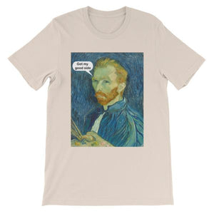 Get My Good Side Vincent Van Gogh T-shirt-Soft Cream-S-Awkward T-Shirts