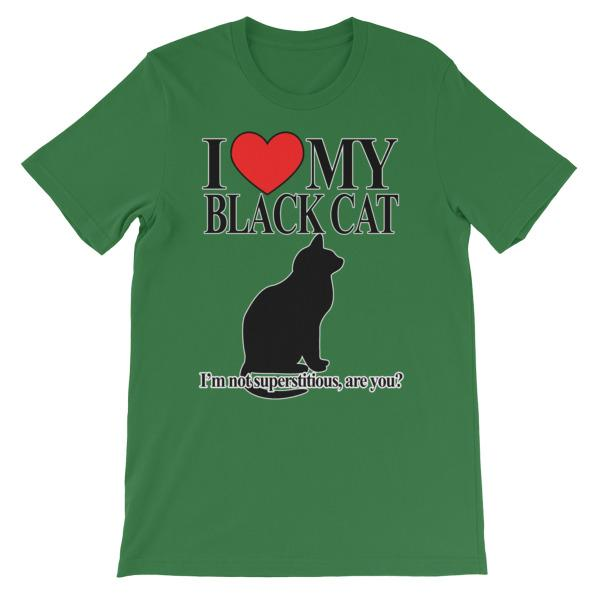 I Love My Black Cat T-shirt-Leaf-S-Awkward T-Shirts
