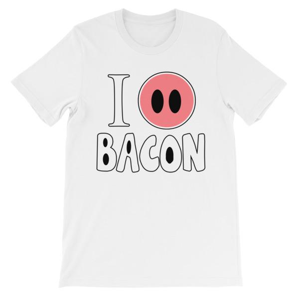 I Smell Bacon T-shirt-White-S-Awkward T-Shirts