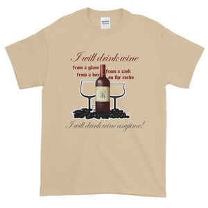 I Will Drink Wine Anytime T-shirt-Sand-S-Awkward T-Shirts