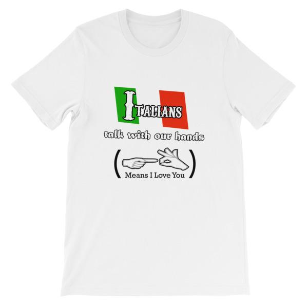 Italians Talk With Their Hands T-Shirt-White-S-Awkward T-Shirts