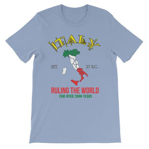 Italy Ruling the World for Over 2000 Years T-shirt-Baby Blue-S-Awkward T-Shirts